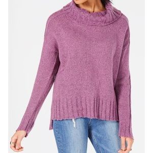 Hooked Up Tangled Plum Cowl Neck Sweater Large